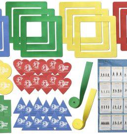 Large Visual Aids Kit - Floor Spot Markers