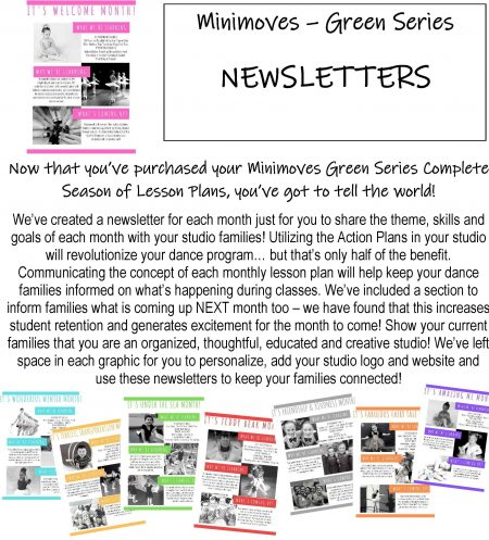 Minimoves - Green Series - Newsletter Package